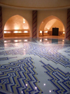 Morocco / Maroc - Casablanca: Hassan II mosque - water hall - communal bath - photo by J.Kaman