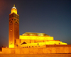 Morocco / Maroc - Casablanca: Hassan II mosque - the night arrives - photo by J.Kaman