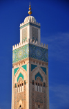 Casablanca, Morocco / Maroc: Hassan II mosque - minaret - photo by M.Torres