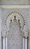 Morocco / Maroc - Rabat: mausoleum of Mohammed V - detail of the marble decoration - Islamic art - photo by J.Kaman