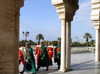 Morocco / Maroc - Rabat: mausoleum of Mohammed V - change of the guard - photo by J.Kaman