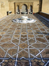 Morocco / Maroc - Rabat: Moroccan craftsmanship - geometrical motives on a floor - photo by J.Kaman