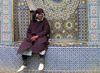 Morocco / Maroc - Meknes: man and zellij mosaic - photo by J.Kaman