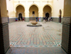 Morocco / Maroc - Meknes: the courtyard of Moulay Ismail's Mausoleum, built by Christian slaves - photo by J.Kaman