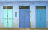 Morocco / Maroc - Chechaouen: doors in the Medina - photo by J.Banks
