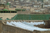 Morocco / Maroc - Fez: textiles drying - yarn - photo by J.Banks