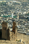 Morocco / Maroc - Fez: from the hills - from above - photo by J.Banks