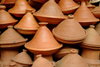 Morocco / Maroc - Tajines - clay - ceramic - photo by J.Banks