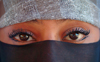 Morocco / Maroc - Moroccan eyes - eyes of a beautiful Muslim veiled young woman - photo by J.Banks