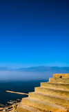 Morocco - Agadir: Medina - stairs - view towards the sea - photo by M.Ricci