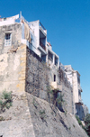 Morocco / Maroc - Tangier / Tanger: houses built over the Portuguese ramparts - Rue du Portugal