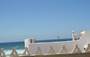 Asilah / Arzila, Morocco - terrace facing the sea - photo by Sandia