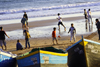 Tarhazoute - Morocco: football - Morocco's most popular sport - match on the beach - photo by Sandia