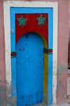 Tarhazoute - Morocco: typical blue door - photo by Sandia