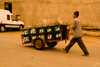 Inezgane - Morocco: market scene - goods transportation - photo by Sandia