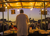 Marrakesh - Morocco: Djemaa El Fnaa stalls - dusk - photo by Sandia