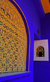 Marrakesh - Morocco: Majorelle Gardens - lovely window - owned by Yves Saint Laurent - photo by Sandia
