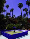 Marrakesh - Morocco: Majorelle gardens / Jardin Bou Saf - fountain - photo by Sandia