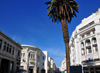 Casablanca, Morocco: view along Boulevard Mohammed V, designed by Henri Prost - former blvd de la Gare - near the central market - photo by M.Torres