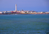 Casablanca, Morocco: el-Hank lighthouse and the bay - phare el-Hank - photo by M.Torres