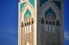 Casablanca, Morocco: Hassan II mosque - section of the minaret - photo by M.Torres