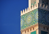 Casablanca, Morocco: Hassan II mosque - traditional zellidj tiles on the minaret - photo by M.Torres