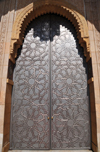 Casablanca, Morocco: Hassan II mosque - one of many metal gates - photo by M.Torres