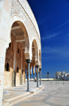 Casablanca, Morocco: Hassan II mosque - arches on the eastern side - photo by M.Torres