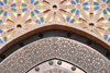 Casablanca, Morocco: Hassan II mosque - dazzlingly intricate decoration above a gate - photo by M.Torres