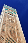 Casablanca, Morocco: Hassan II mosque - Moorish motives on the minaret - photo by M.Torres