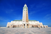 Casablanca / Anfa, Morocco: Hassan II mosque - built on reclaimed land - photo by M.Torres