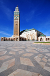 Casablanca, Morocco: Hassan II mosque and its courtyard for 120.000 faithful - photo by M.Torres