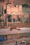 Morocco / Maroc - Benhaddou: casbah and Ouarzazate River - photo by F.Rigaud