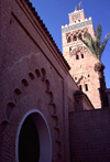 Morocco / Maroc - Marrakesh / Marrakech: La Koutoubia mosque and minaret - built under Almohad Caliph Yaqub al-Mansur - Medina of Marrakech - UNESCO World Heritage Site - photo by F.Rigaud