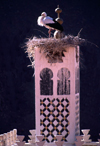 Morocco / Maroc - Merzouga: stork on a minaret - photo by F.Rigaud