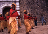 Ilha de Moçambique / Mozambique island: Tufo dance - 'Estrela Vermelha' group of women in front of St Sebastian fort / dança Tufo - photo by F.Rigaud