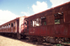 Mozambique / Moçambique - Inhambane: rusting train - old carriages / carruagens abandonadas - photo by F.Rigaud
