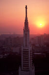 Mozambique / Mo�ambique - Maputo / Louren�o Marques / MPM: the Cathedral at sunset / a Catedral de Nossa Senhora da Concei��o ao p�r do sol - projecto do engenheiro Freitas Costa - photo by F.Rigaud