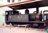 Mozambique / Mo�ambique - Maputo / Louren�o Marques / MPM: retired steam locomotive at the train station / velha locomotiva a vapor - esta��o dos CFM - photo by F.Rigaud