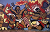 Mozambique / Mo�ambique - Maputo / Louren�o Marques / MPM: the people's struggle - mural - Heroes Memorial Wall by Jo�o Craveirinha / painel mural da Pra�a dos Herois - photo by F.Rigaud