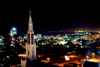 Mozambique / Mo�ambique - Maputo / Louren�o Marques / MPM : night over Maputo bay - the cathedral and the city / vista nocturna - a Catedral e a Cidade - photo by M.Torres