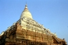 Myanmar / Burma - Bagan / Pagan: temple with stupa, locally called 'zedi' (photo by J.Kaman)