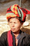 Nyaungshwe: Pa-O woman with typical head gear (photo by J.Kaman)
