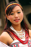 Nagaland - Kutur village: young woman of the Yimchunger Naga tribe - photo by W.Callens