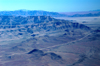 Namibia: Aerial view of striated mountains - photo by B.Cain