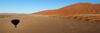 Namib Desert - Sossusvlei, Hardap region, Namibia, Africa: Landscape panorama from Hot Air Balloon - photo by B.Cain