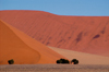 Namibia Multi colored sanddunes scenic, near Sossusvlei - photo by B.Cain