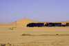 Erongo region, Namibia: railway through the desert - on the way to Swakopmund - Trans-Namib Railway from Windhoek to Walvis Bay - photo by Sandia