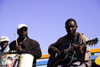Swakopmund, Erongo region, Namibia: local musicians - seafront - photo by Sandia