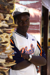 Swakopmund, Erongo region, Namibia: souvenir seller in his shop - photo by Sandia